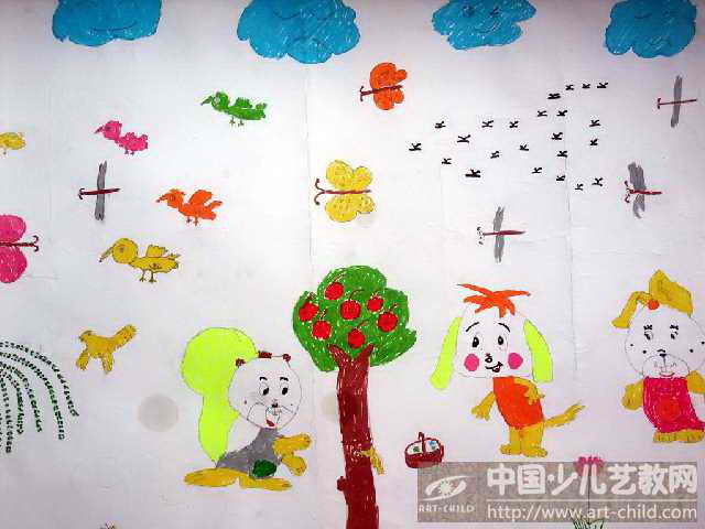 森林动物绘画图片大全展示图片