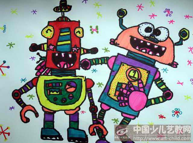 2014机器人绘画图片大全机器人绘画 2014机器人大赛海报图片
