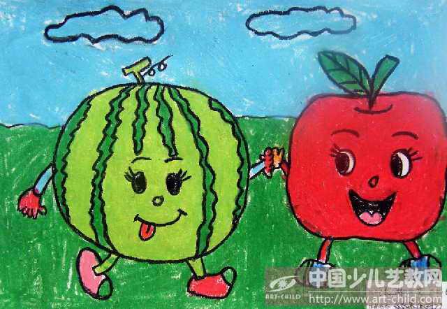 幼儿画水果步骤
