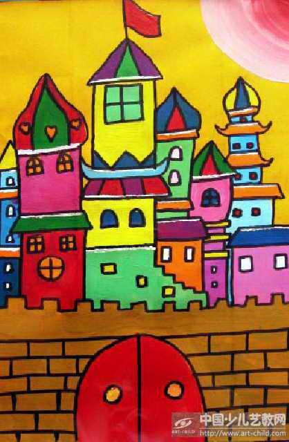 儿童城堡画画图片