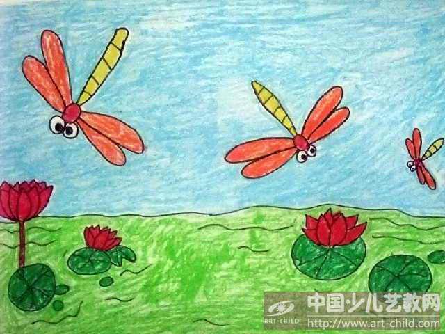儿童国画蜻蜓画法