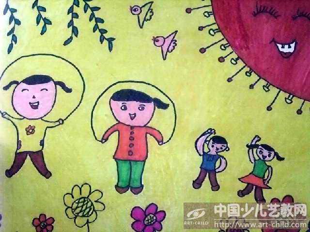 与运动有关的儿童画