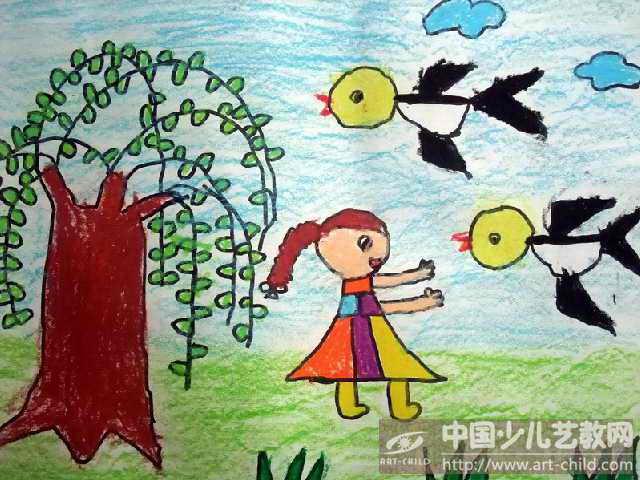 幼儿园燕子的画法