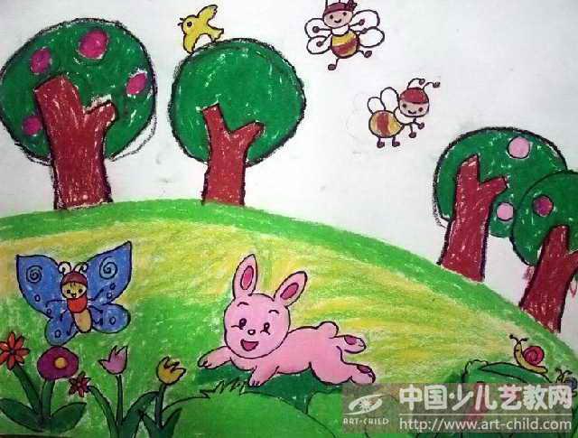 幼儿画画大全简单漂亮-作品参赛详情 参赛查询 赛事中心 全息网