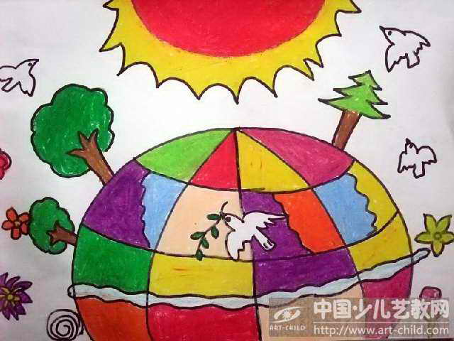 大班幼儿绘画作品4