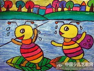 幼儿大班美术作品蚂蚁分享展示图片