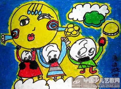 幼儿园中秋绘画图片