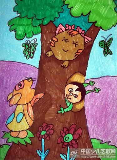 树下的人卡通画