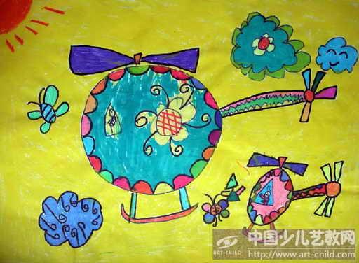 幼儿园画画飞机
