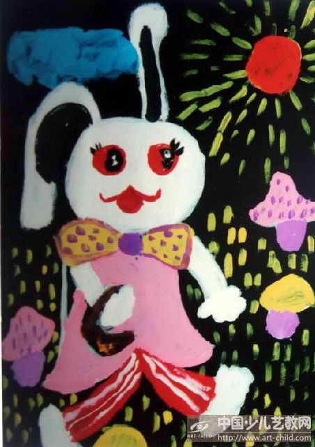 作品名称:  《小白兔采蘑菇》