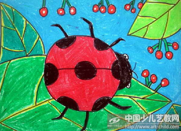 儿童画七星瓢虫图片展示