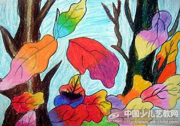 作品名称:  《秋天美丽的落叶》图片