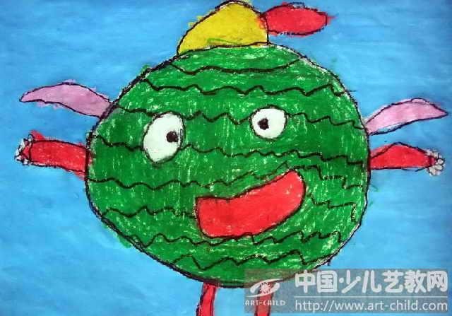 孫寧我的家鄉兒童畫分享展示