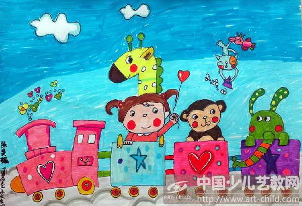火车画画减笔画