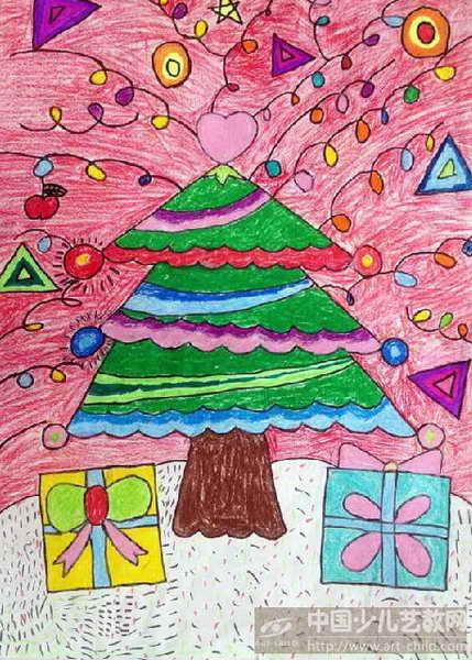 幼儿园圣诞节画画