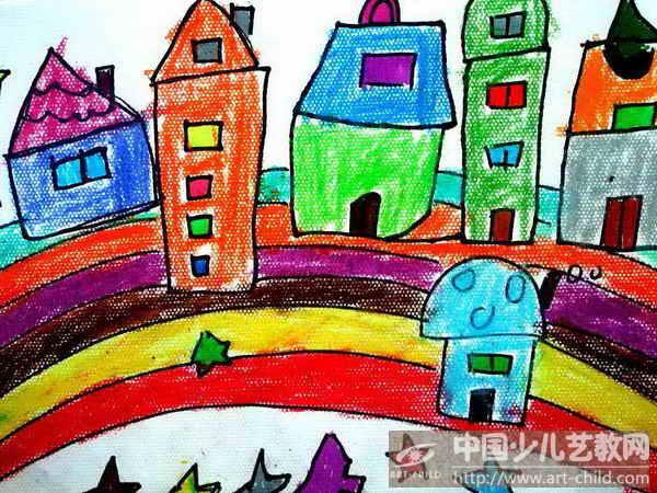 作品名稱:  《彩虹上的房子》