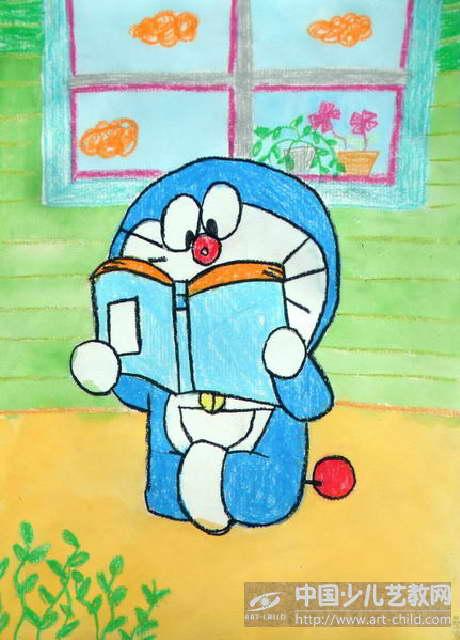 作品名称:  《爱读书的哆啦a梦》图片