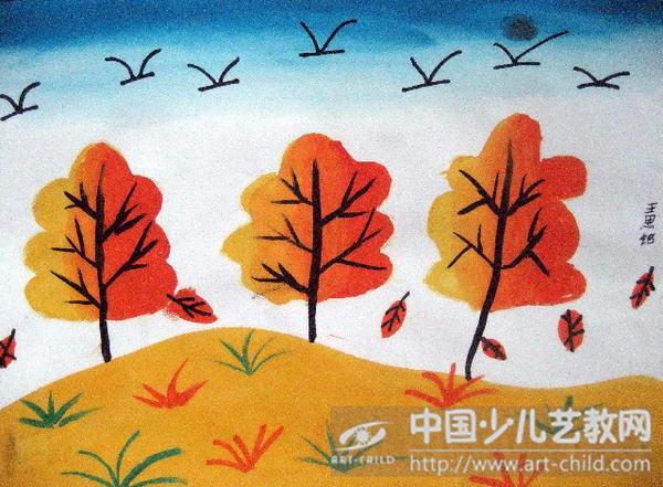 作品名称:  《秋天的景色》