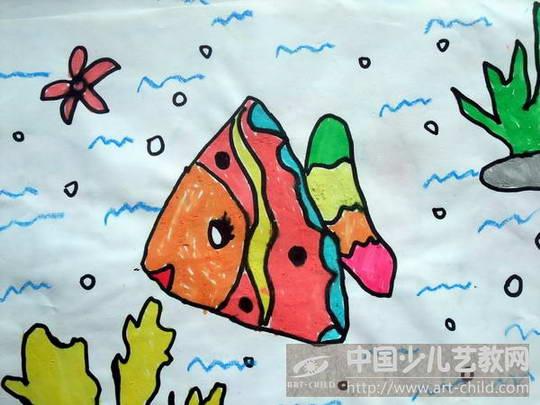 幼儿园金鱼画画图片