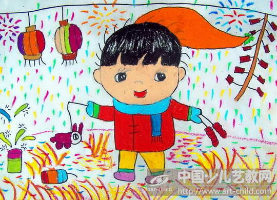 过新年优秀绘画作品分享展示图片