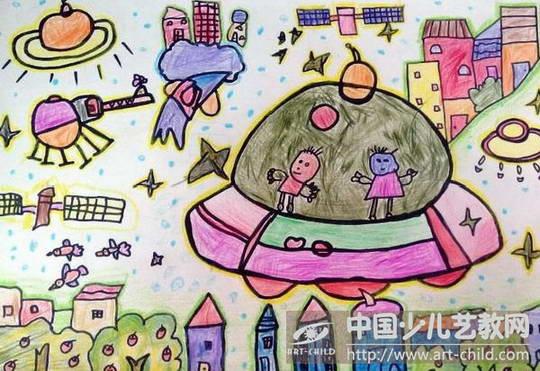 儿童画关于火箭的图画图片展示_儿童画关于火箭的
