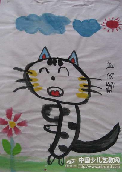 中班美术可爱的小猫
