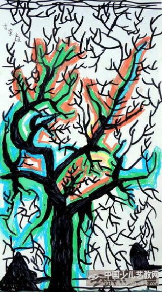 作品名称:  《冬天的枯树》