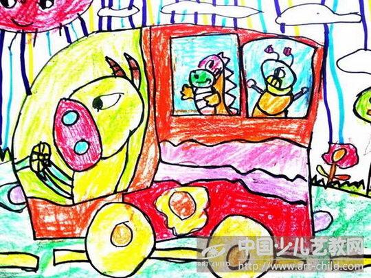 作品名称:  《做校车的小动物》