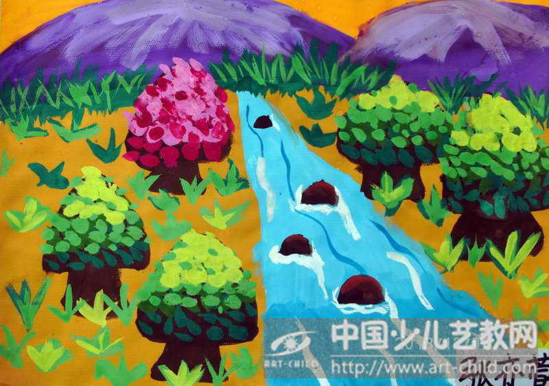 作品名称:  《森林里的小溪》