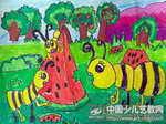 蚂蚁啃西瓜