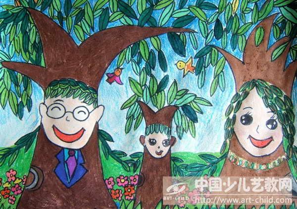 幼儿园绘画全家福照片诗歌分享展示图片