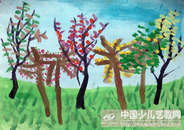 作品名称:  《春天的小树》