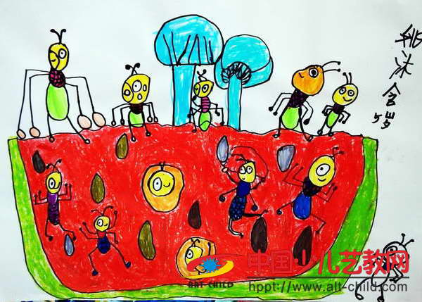 作品名称:  《当蚂蚁遇见西瓜》图片