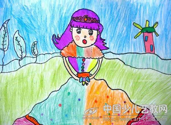 少儿画画步骤公主