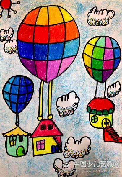 作品名称:  《热气球》图片