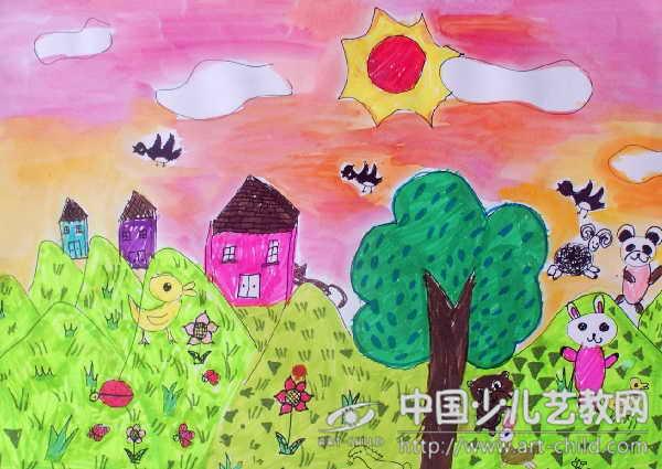 我的家园美术_作品名称:  《我的家园》