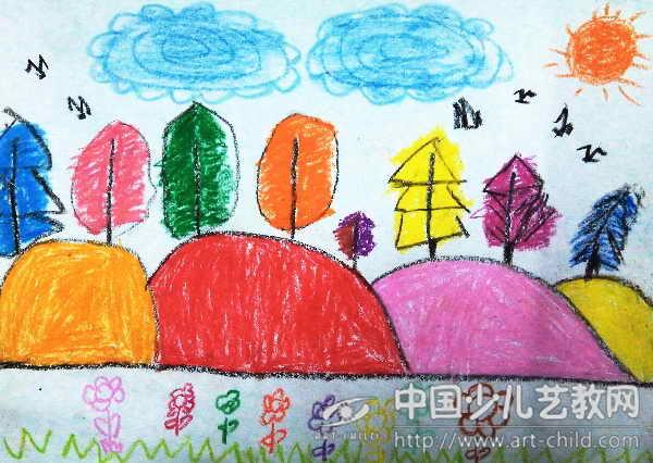 作品名称:  《五彩树》