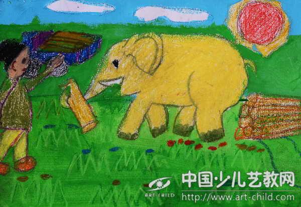 作品名称 大象运木头 -作品参赛详情 参赛查询 赛事中心 全息网
