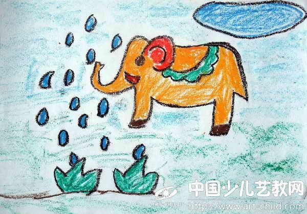 作品名称:  《大象喷水》图片