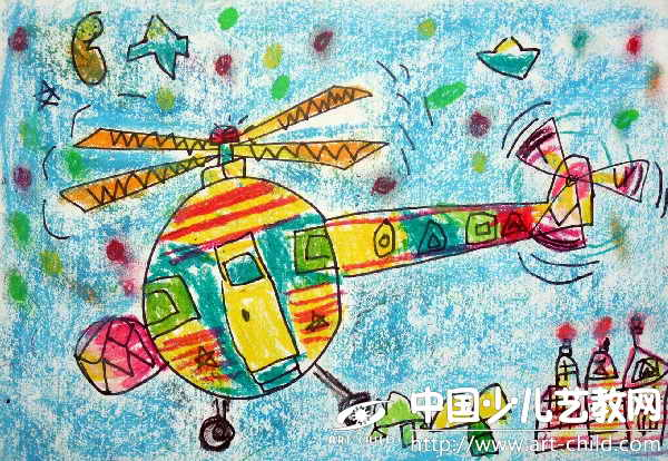 作品名称:  《直升飞机》