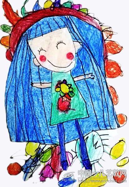作品名称:  《长头发的小女孩》图片